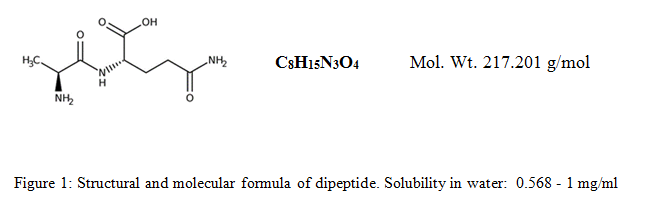 Structural and molecular formula of dipeptide